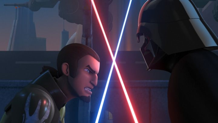 In the premiere of Season 2, Kanan meets Darth Vader