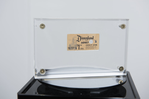 Disneyland number 1 ticket to be shown as part of Walt Disney Archives' Disneyland: The Exhibit