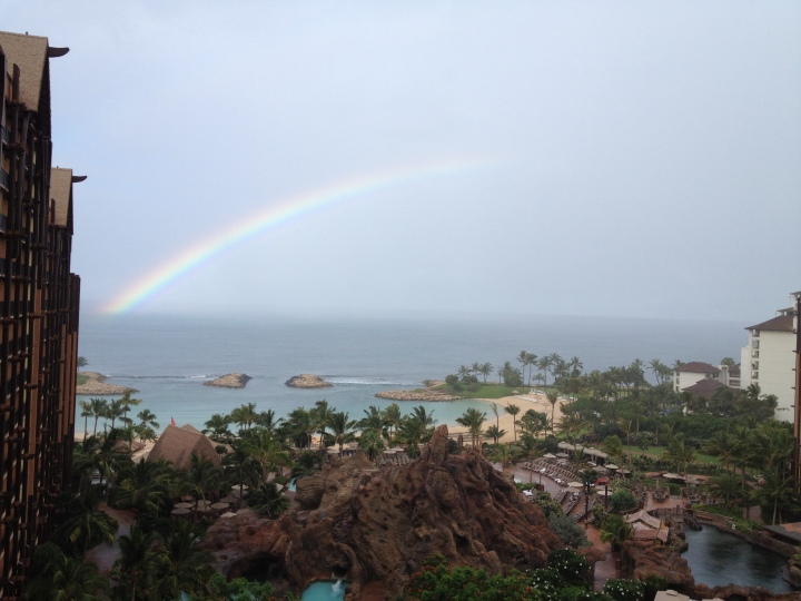 We saw a few rainbows during our stay at Aulani from our DVC room!