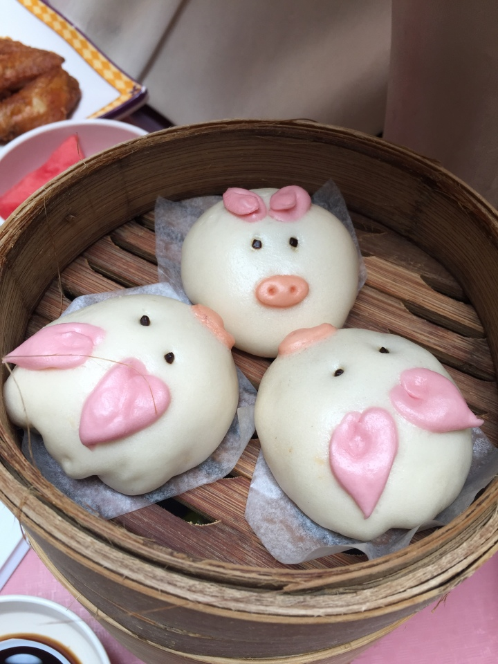 One of my favorites - pork buns in the shape of the Three Little Pigs