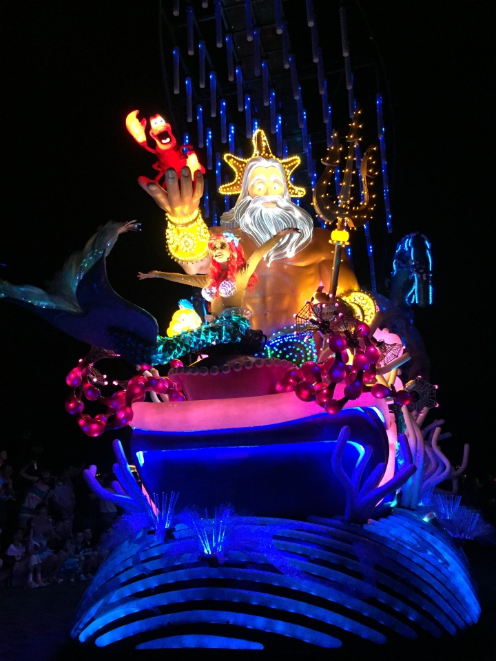 The original Paint the Night parade at HKDL incorporates different elements from its Disneyland counterpart