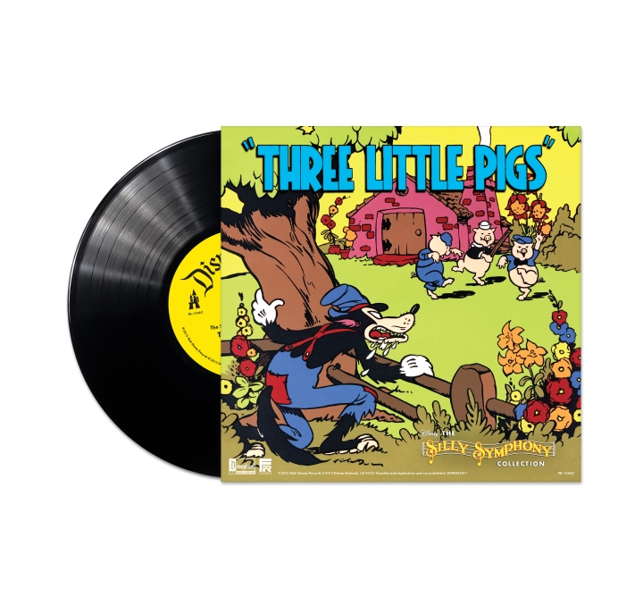 The vinyl edition of Three Little Pigs you receive with a pre-order of The Silly Symphonies Collection