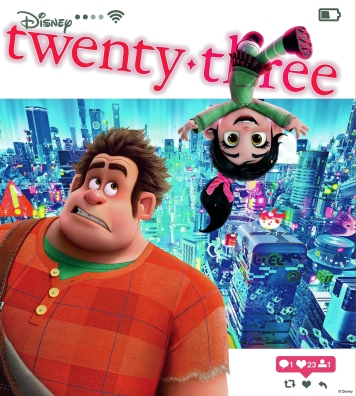 Cover to the Winter 2018 edition of twenty-three, the D23 Fan Magazine