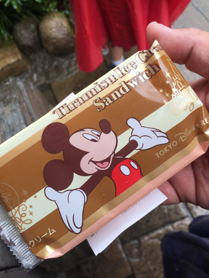 Yum! Tiramisu Ice Cream Sandwich at Tokyo Disneyland!  Ate it so fast I couldn't get a picture