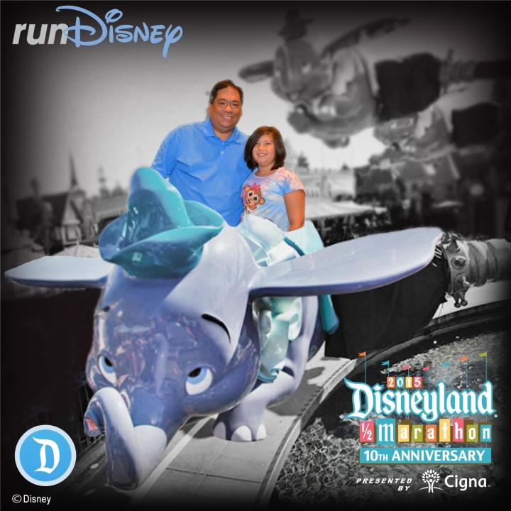 Emma and I posing at the runDisney Instagram booth for our commemorative photo