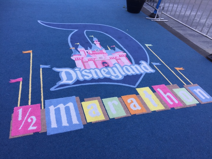 At the entrance to the runDisney Expo