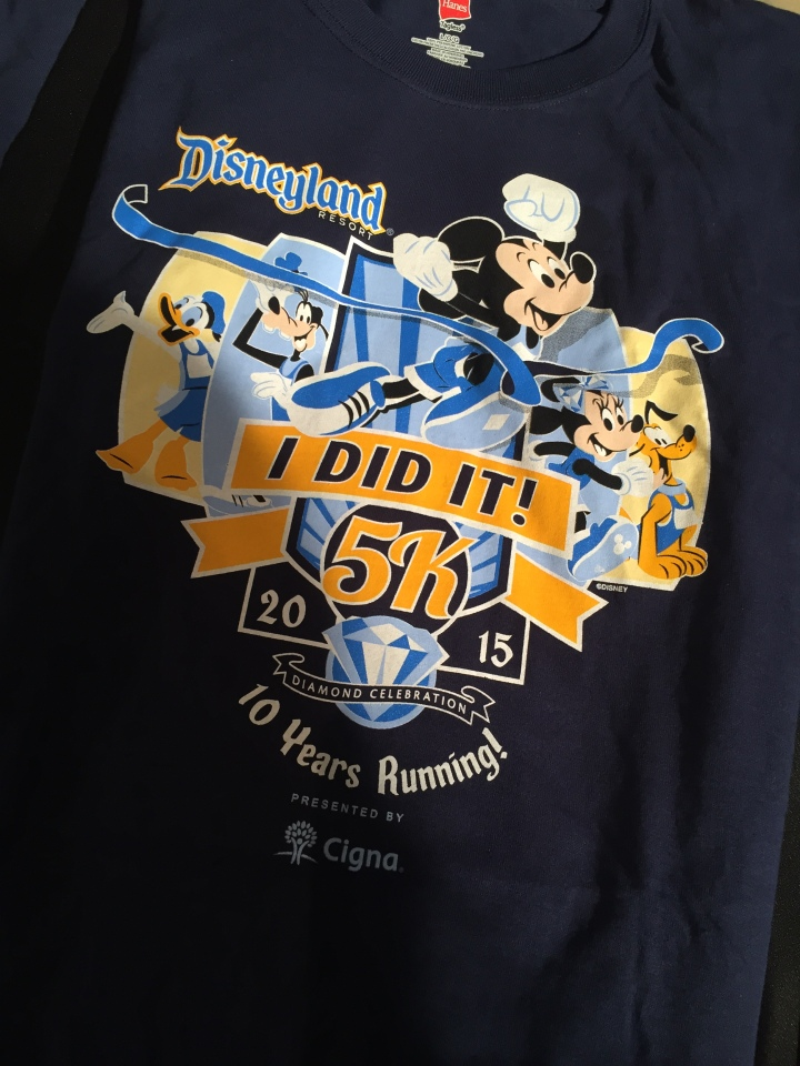 "The ""I Did It"" shirt for the 5K. They had one for each race that weekend"