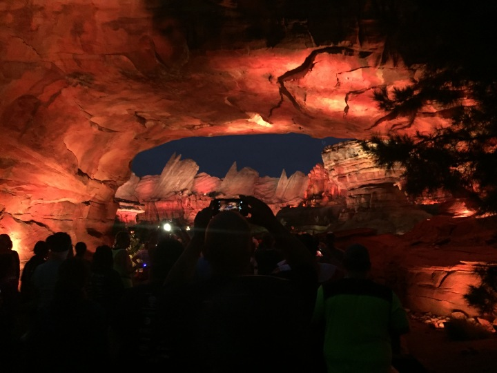 Entering Disney California Adventure, we had this incredible view of Cars Land to start off