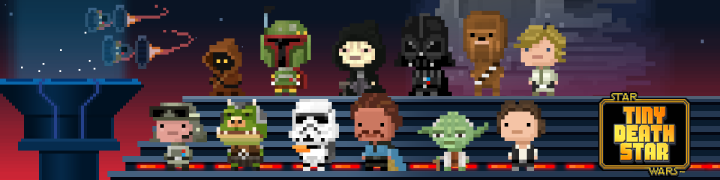 Some of the cast from the app Tiny Death Star