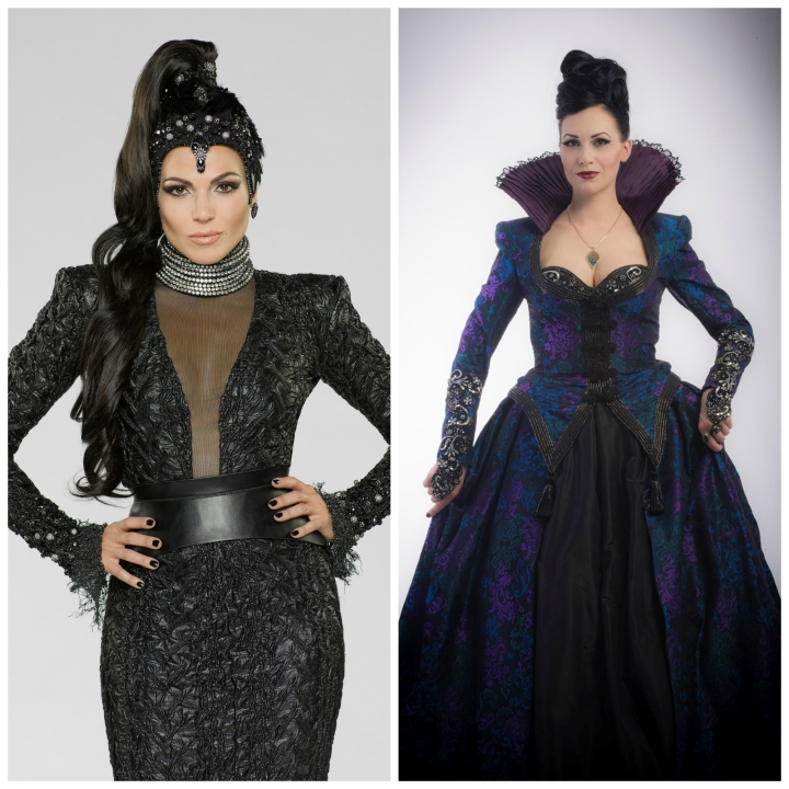 Which witch is which? - Lana Parilla and Reini Side as the Evil Queen / Regina from Once Upon A Time