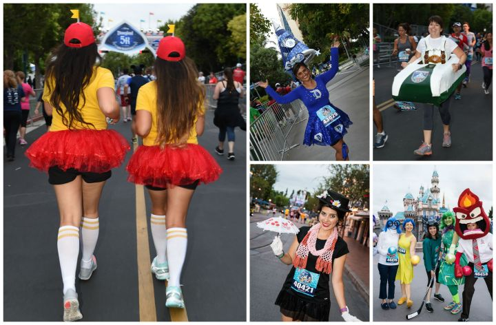 Some of the variety of costumes people wore in the race - photos courtesy of runDisney