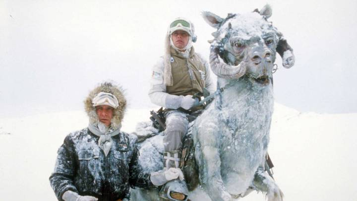Luke and Han on the ice planet Hoth