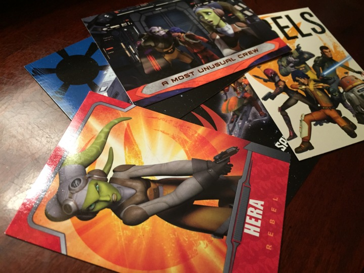 Topps still makes traditional trading cards like this Star Wars Rebels set