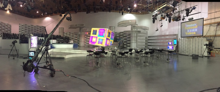 Completely unfiltered shot - this is what the set looks like after the show has come down