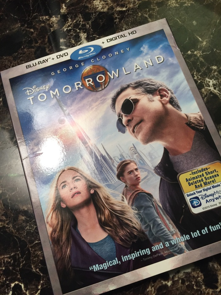 Disney's Tomorrowland now on BluRay, DVD, and digital download - a great addition for fans of the movie