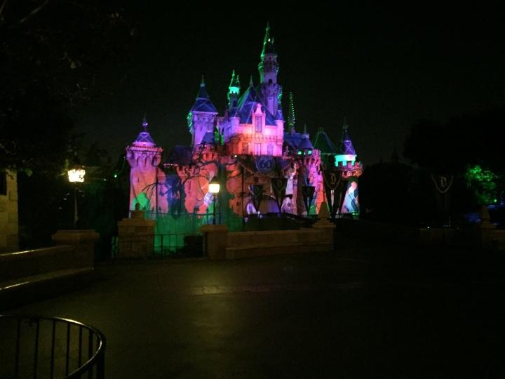 Sleeping Beauty Castle Halloween overlay