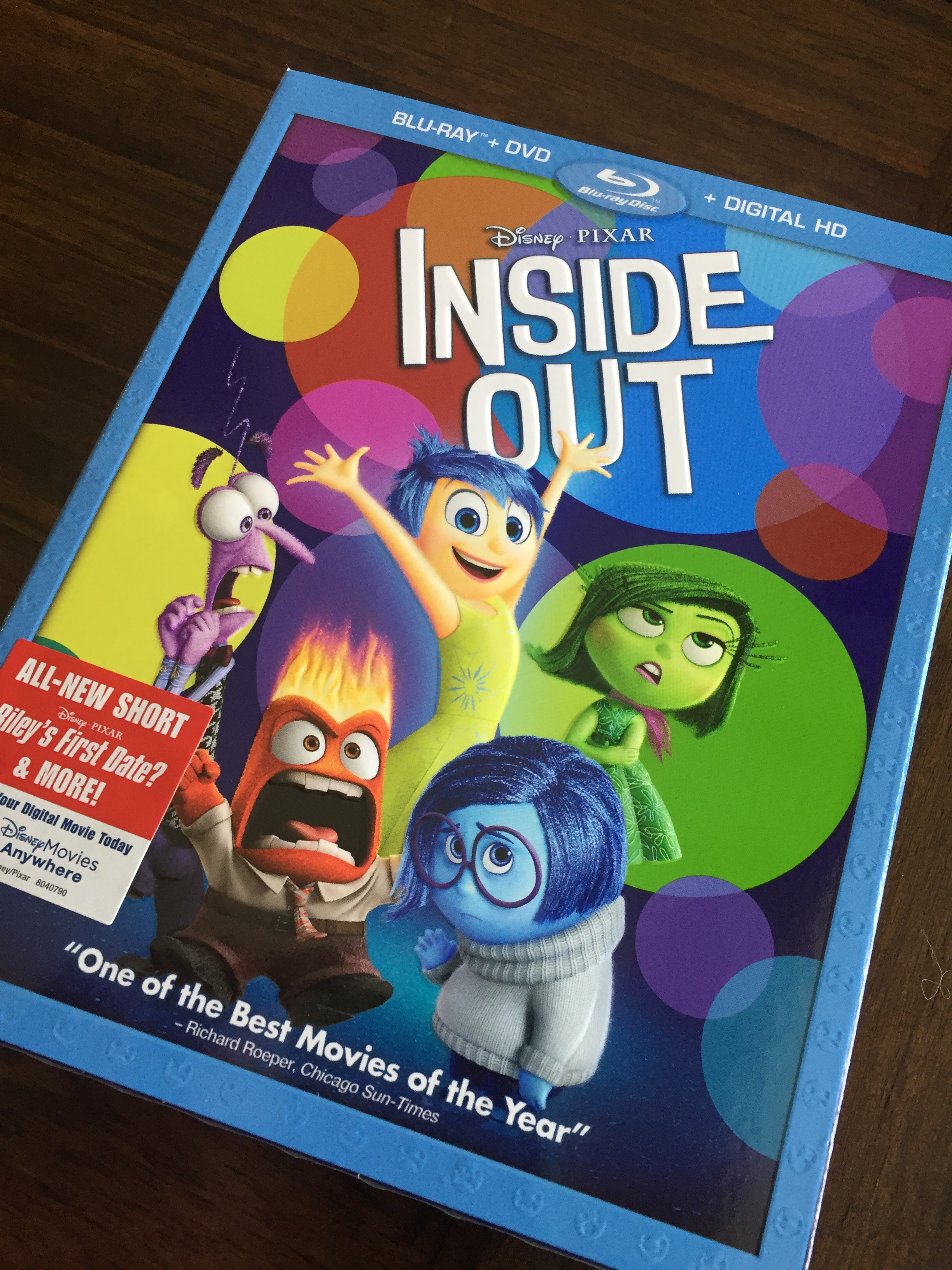 Inside The Bluraydvd Of Inside Out Rileys First Date Disney Nerds