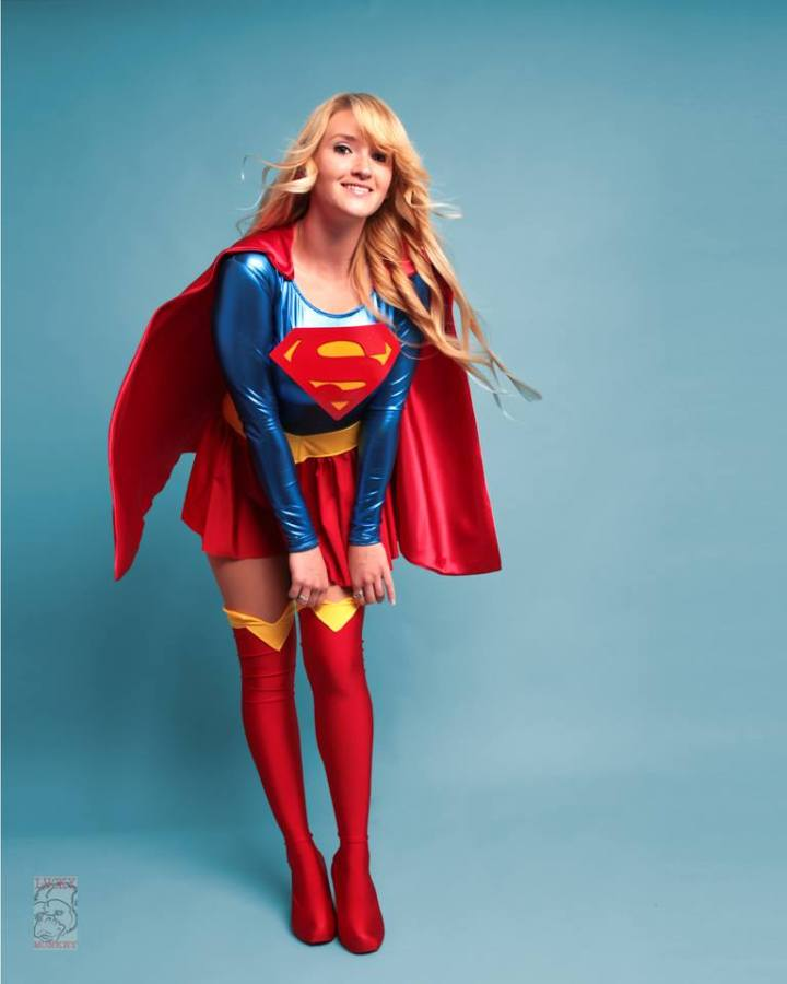 Holly in her Supergirl outfit by Lucky Monkey Photo