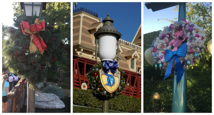 Love how Disney theme continue even in the wreaths! Can you tell which ones go where? One land doesn't have any wreaths - Adventureland!