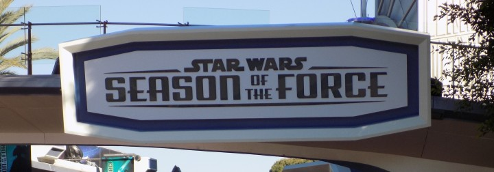 Huge sign letting you know that Tomorrowland is featuring Season of the Force