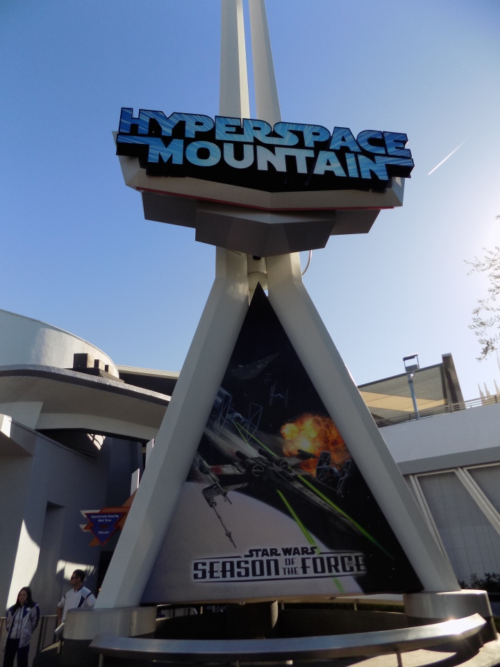 The entrance to Hyperspace Mountain with cast members not giving much away about what's inside