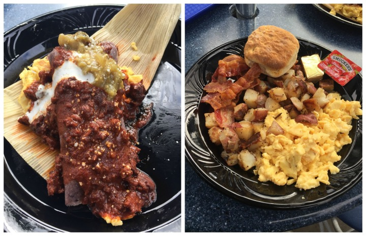 Darth Tamale on the left and Lars Family Breakfast Platter on the right