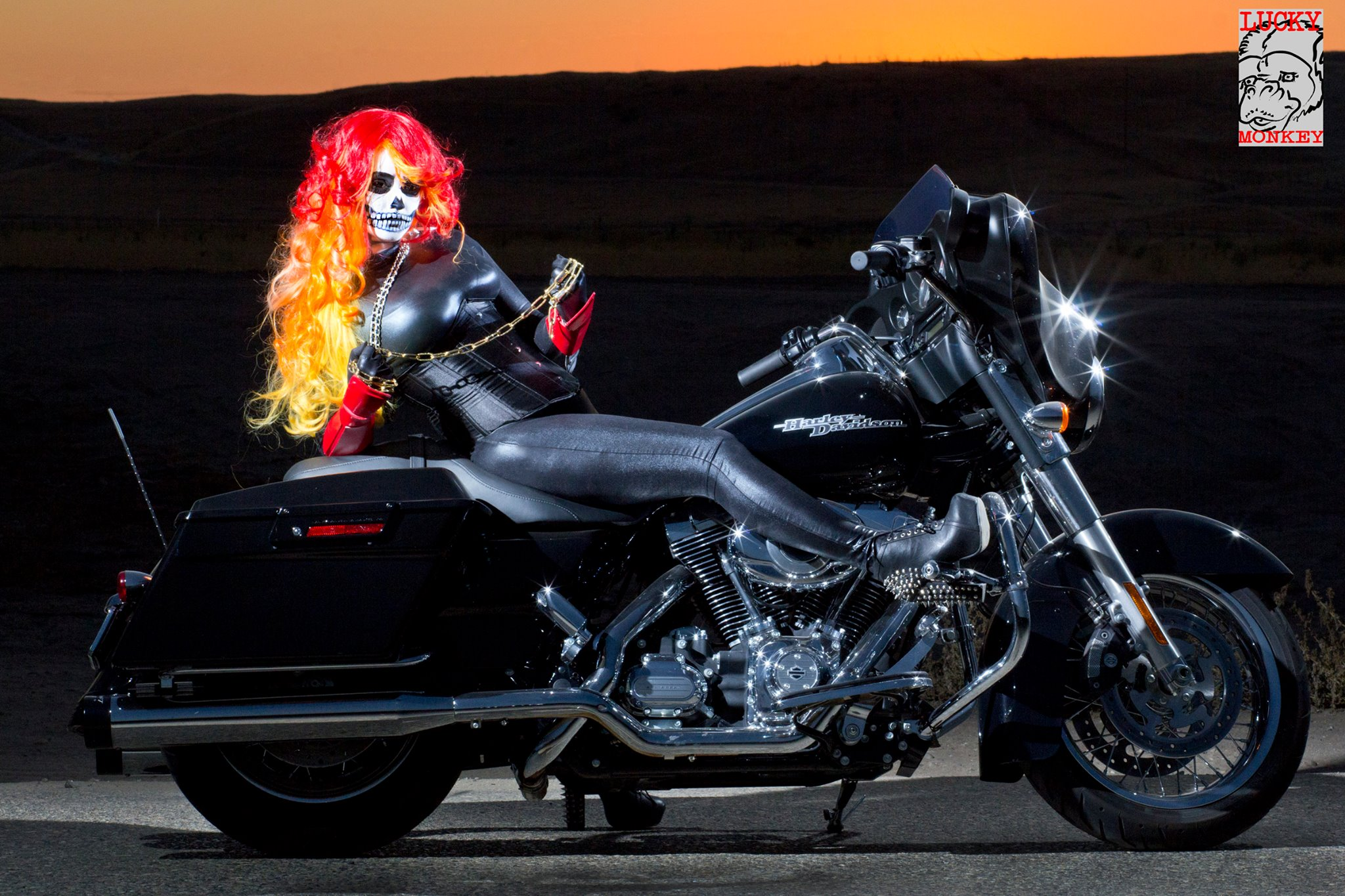 Holly brooke talks about the ups and downs of cosplay disney nerds holly as ghost rider photo by lucky monkey photo solutioingenieria Gallery
