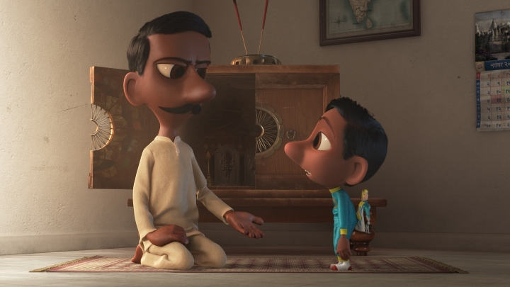 "In Pixar Animation Studios' ""Sanjay's Super Team,"" a first-generation Indian-American boy whose love for western pop culture comes into conflict with his father's traditions. He embarks on a journey he never imagined, returning with a new perspective they can both embrace. Directed by Sanjay Patel and produced by Nicole Paradis Grindle, the new short opens in front of Disney•Pixar's ""The Good Dinosaur ""on Nov. 25, 2015. ©2015 Disney•Pixar. All Rights Reserved."