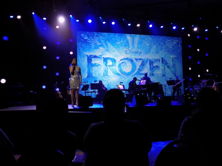 "Ashley Brown belting out a beautiful rendition of ""Let It Go"" when it was announced the next Disney Broadway musical would be Frozen"