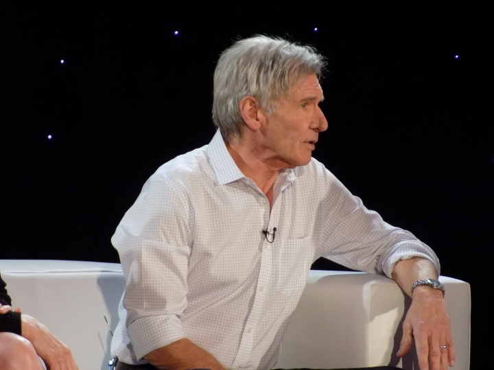 Harrison Ford at the Star Wars: The Force Awakens press event
