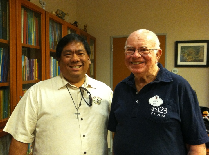 One of the highlights of our studio tour was meeting Dave Smith, renowned archivist