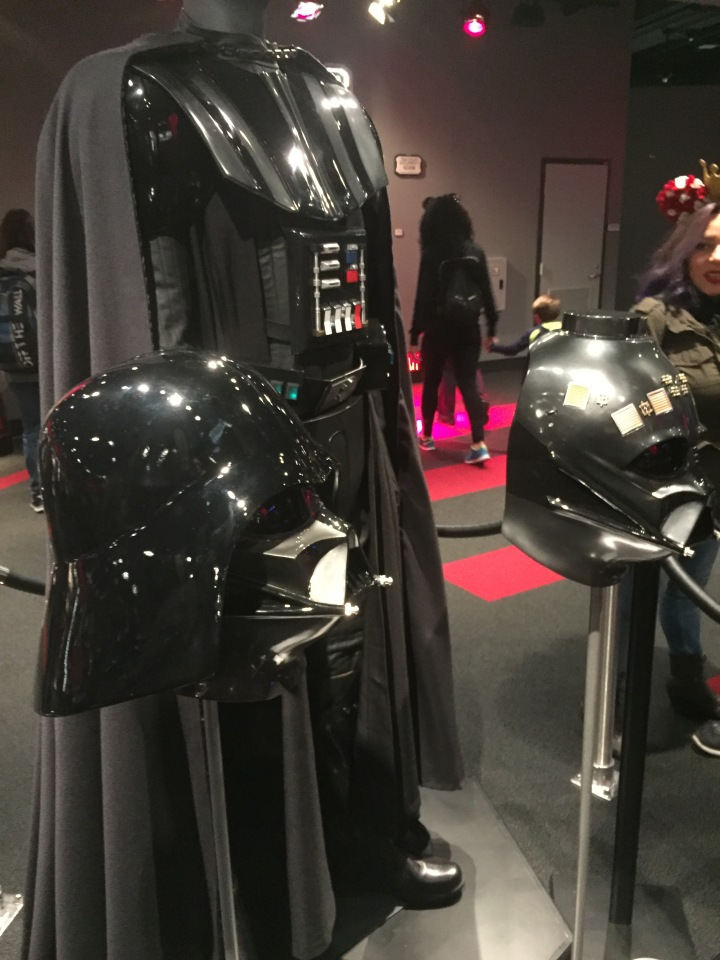 The Darth Vader replica costume at Disneyland's Star Wars Launch Bay - only $4,000!