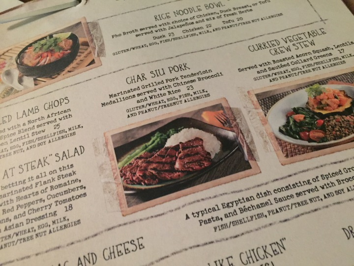 The menu at Skipper Canteen is incredibly varied with lots of different tastes and textures