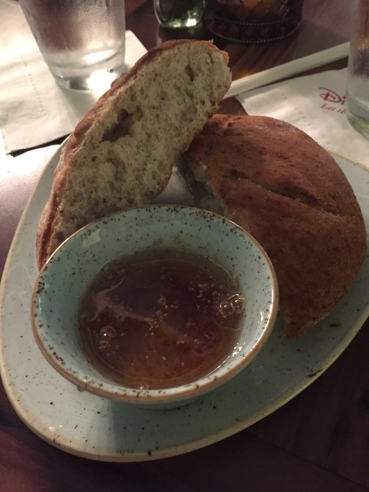 Delicious Egyptian bread with amazing honey dip