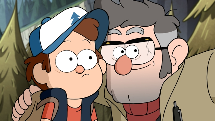 "GRAVITY FALLS - ""Dipper and Mabel vs. the Future"" - Mabel decides to plan for her and Dipper's 13th birthday party. Meanwhile, Dipper ventures below the town to find its most shocking secret. This episode of ""Gravity Falls"" will air Monday, October 12 (8:00 PM - 8:30 PM ET/PT), on Disney XD. (Disney XD) DIPPER, FORD"