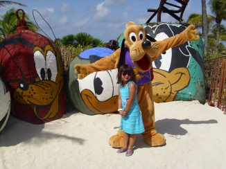 Getting to spend time with Pluto and all his friends on Castaway Cay