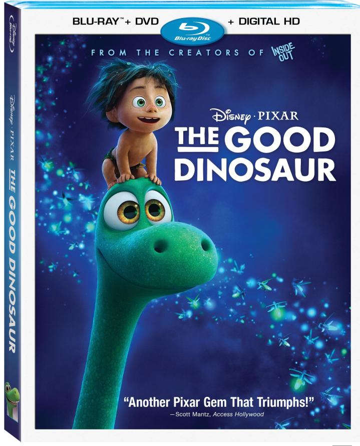 The Good Dinosaur is released on BluRay, DVD, and Disney Movies Anywhere on 2/23