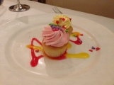 Cute little cupcake pairing at Royal Court