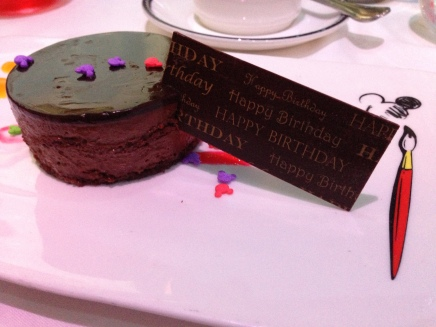 Cute birthday treat at Animator's Palate - let your server know when you're celebrating an event