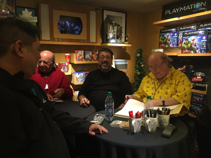 Fortunate to get to meet both David (middle) and Eric (far right) at a book signing at the D23 Light Up the Holidays Event