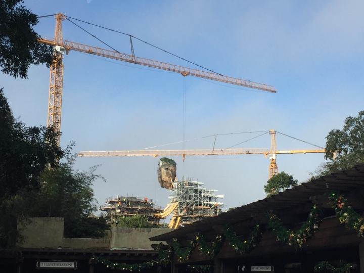 The floating islands are taking shape over the Animal Kingdom skyline