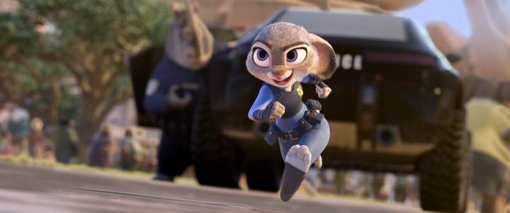 "ZOOTOPIA – OFFICER HOPPS -- Judy Hopps (voice of Ginnifer Goodwin) believes anyone can be anything. Being the first bunny on a police force of big, tough animals isn't easy, but Hopps is determined to prove herself. Walt Disney Animation Studios' ""Zootopia"" opens in U.S. theaters on March 4, 2016. ©2015 Disney. All Rights Reserved."