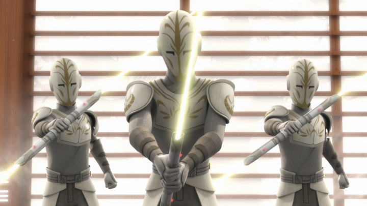 Twists and turns are everywhere as one of the knights in the temple is revealed to be the former Grand Inquisitor