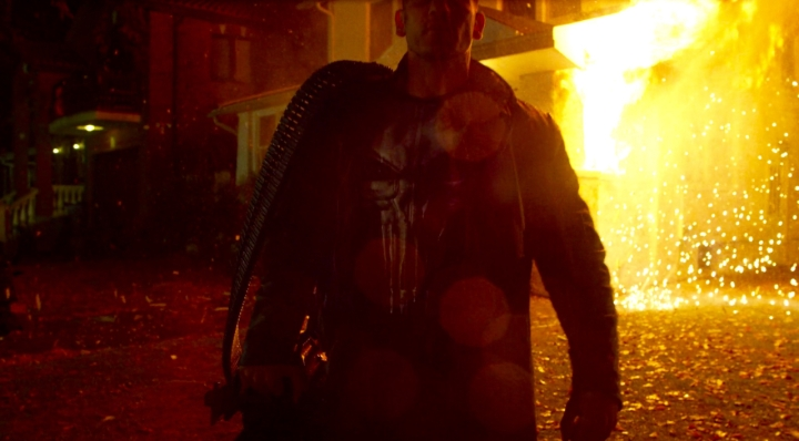 Frank Castle embraces his role as The Punisher