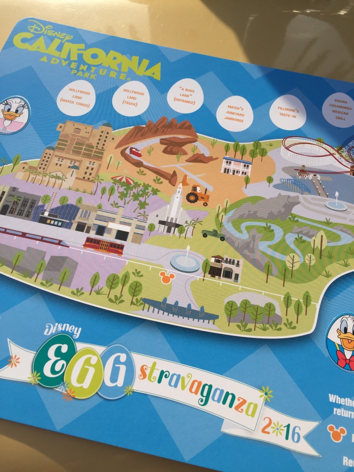 The Egg-stravaganza map is stylish and easy to follow and made out of a much thicker card stock to keep as a souvenir