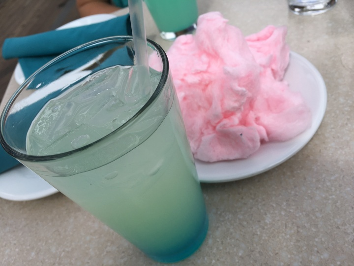 Cotton Candy Lemonade with a side of cotton candy
