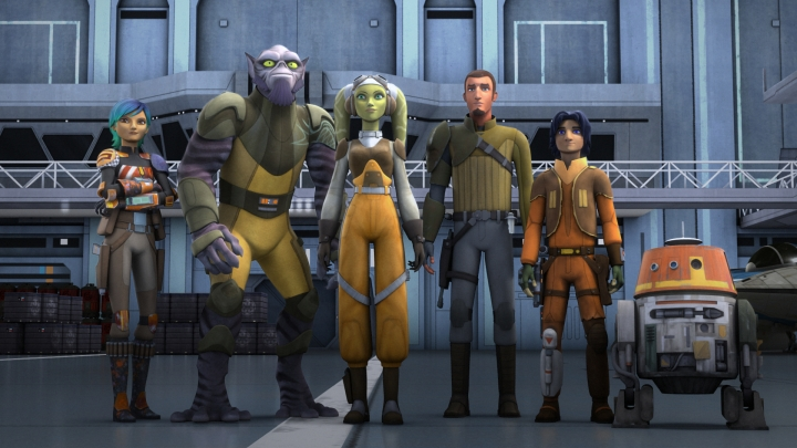 One of my favorite pics of the crew of The Ghost - Sabine, Zeb, Hera, Kanan, Ezra, and Chopper
