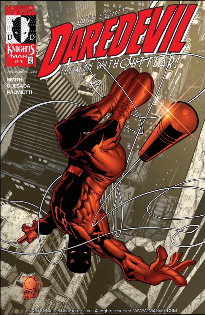 Kevin Smith and Joe Quesada bring DD back into the limelight as the flagship book of the new Marvel Knights line of books