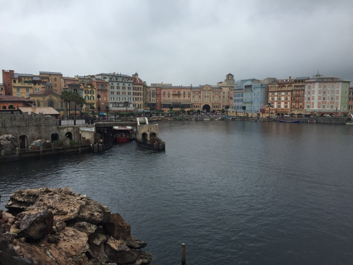 The Hotel Mira Costa as seen from the inside of the DisneySea