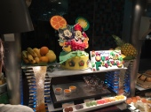 Just one of many dessert displays at Oceano including yummy macarons